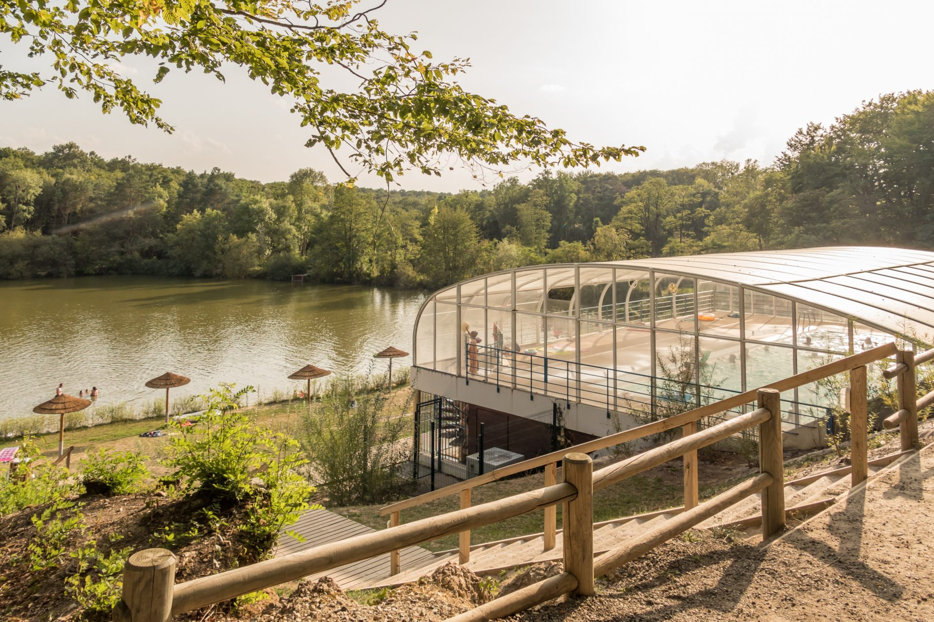 Parc De Fierbois : Piscine Couverte Plage