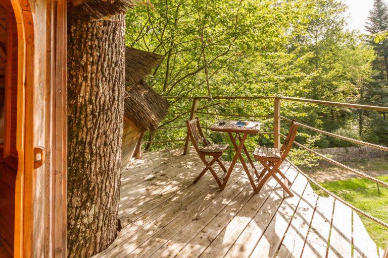 Parc De Fierbois : Cabane Couple Montlouis Parc De Fierbois (4)