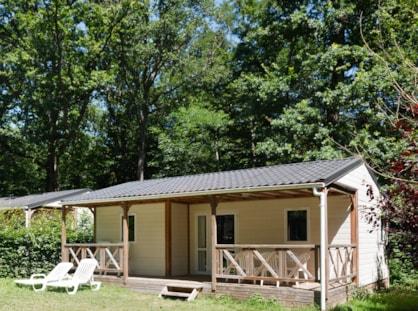 Location de chalet avec terrasse près de Tours au Parc de Fierbois