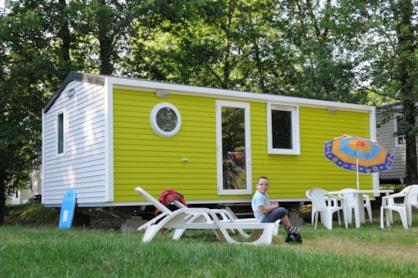 Mobil home sans terrasse, en camping dans le val de Loire : Parc de Fierbois