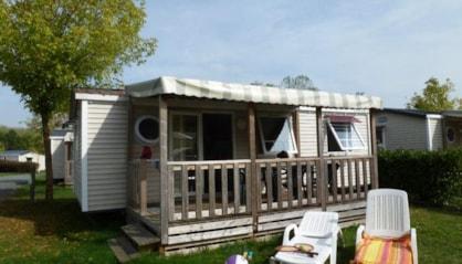 Mobil home avec terrasse 2 chambres en camping en Indre et Loire